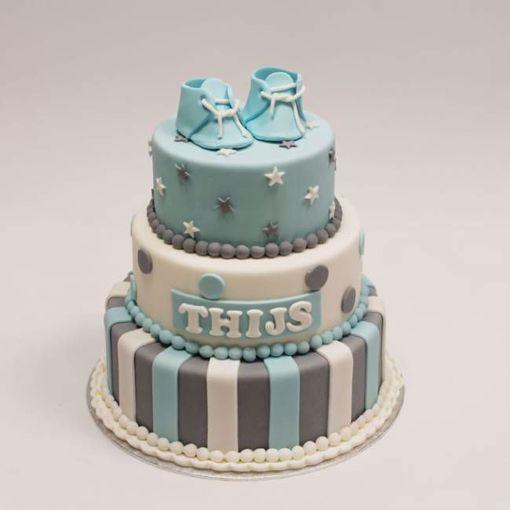 Afbeelding van Blauw schoentjes taart