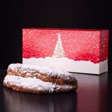 Afbeeldingen van Kerststol in luxe kerstverpakking