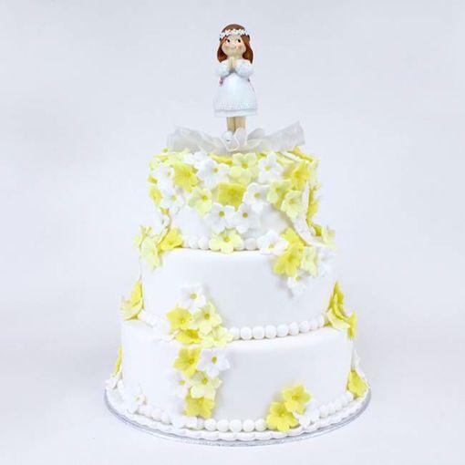 Afbeelding van Yellow Flower taart
