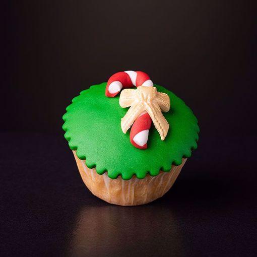 Afbeelding van Kerst muffin kerstmannetje