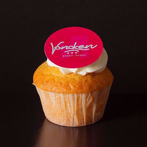 Afbeelding van Muffin naturel met logo