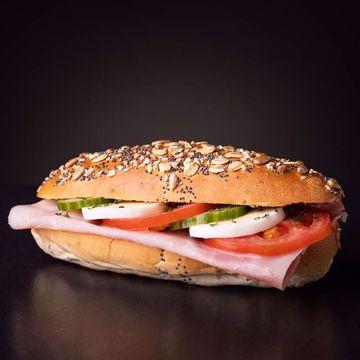 Afbeeldingen van Belegd broodje gezond ham