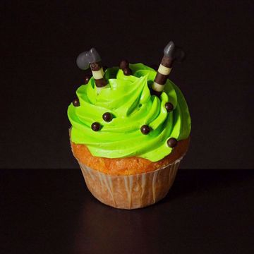 Afbeeldingen van Halloween muffin (Heksen voetjes)