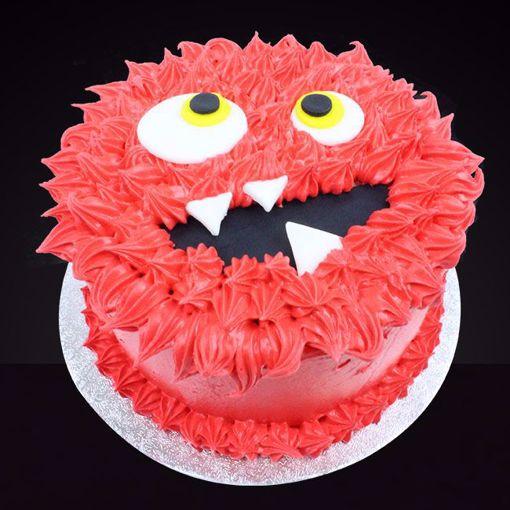Afbeelding van Halloween Monster taart rood