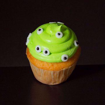 Afbeeldingen van Halloween muffin (Groen griezeltje)