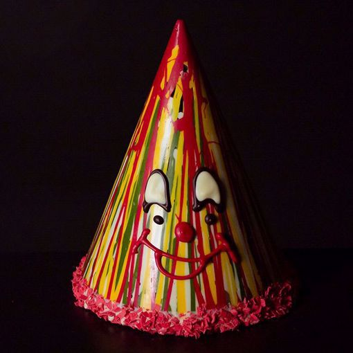 Afbeelding van Chocolade clown punt hoed