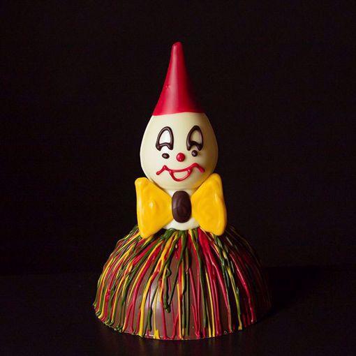 Afbeelding van Chocolade clown punt hoofd
