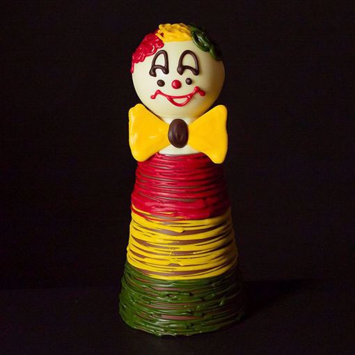 Afbeelding van Chocolade clown bol hoofd