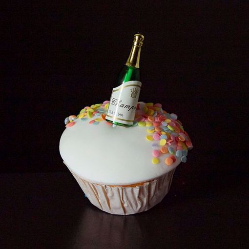 Afbeelding van Muffin champagneflesje