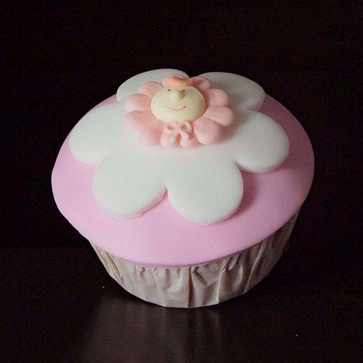 Afbeelding van Muffin babyflower roze