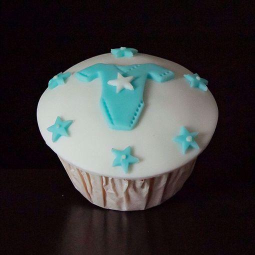 Afbeelding van Muffin baby rompertje blauw