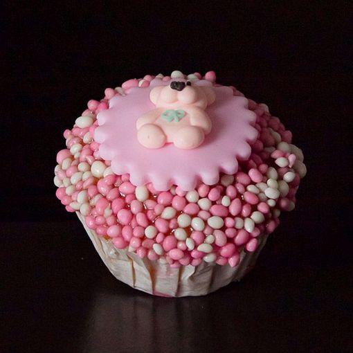 Afbeelding van Muffin babybeertje roze