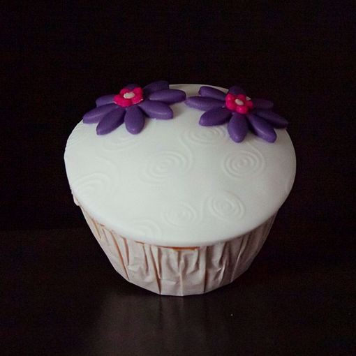 Afbeelding van Muffin paarse bloem