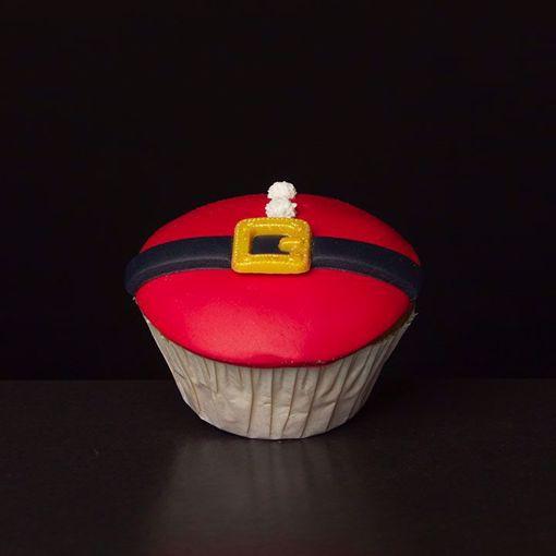 Afbeelding van Kerst muffin kerstman buikje