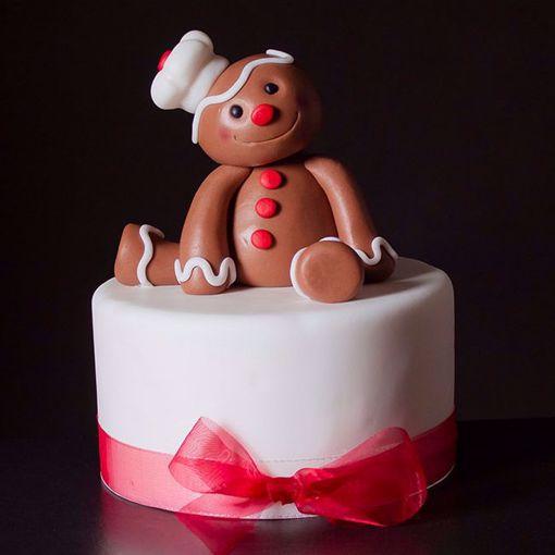 Afbeelding van Kersttaart Gingerbread Man