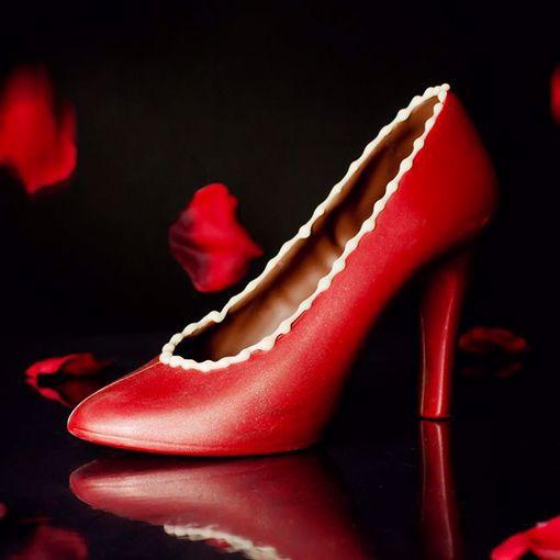 Afbeelding van Chocolade high heels