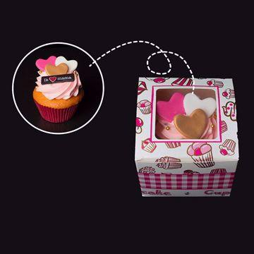 Afbeeldingen van Happy Cupcakebox 1 Moederdag